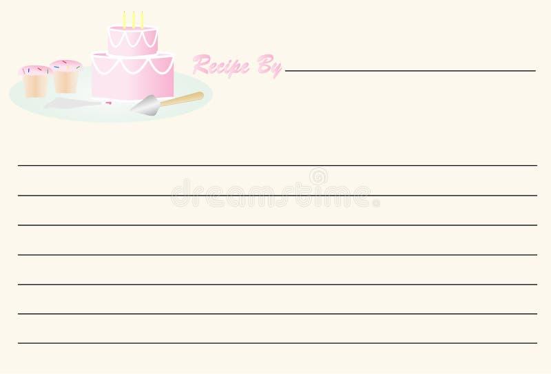 Rezept-Karte - Geburtstag vektor abbildung
