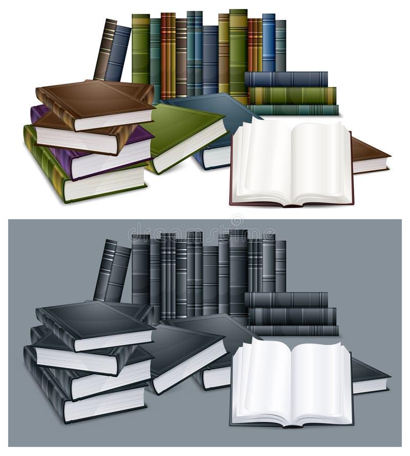 Download Rezerwuje biblioteki ilustracja wektor. Obraz złożonej z otwarty - 19536653