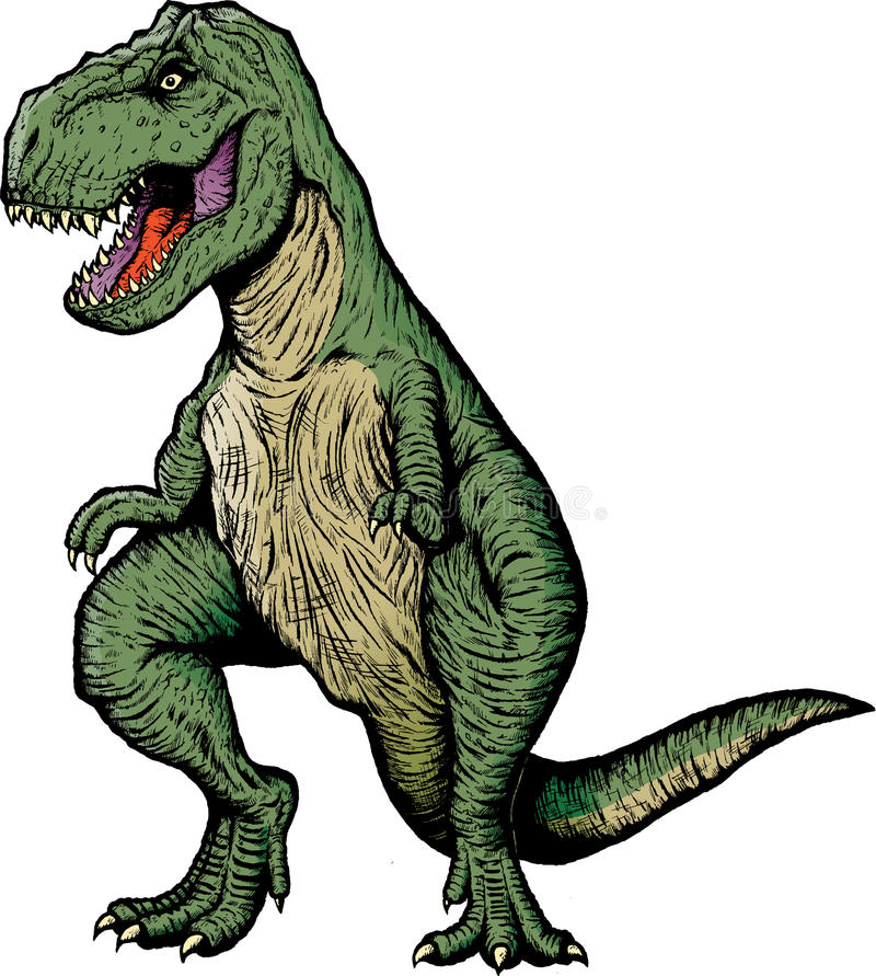 rezerwuje komicznego rex t ilustracja wektor