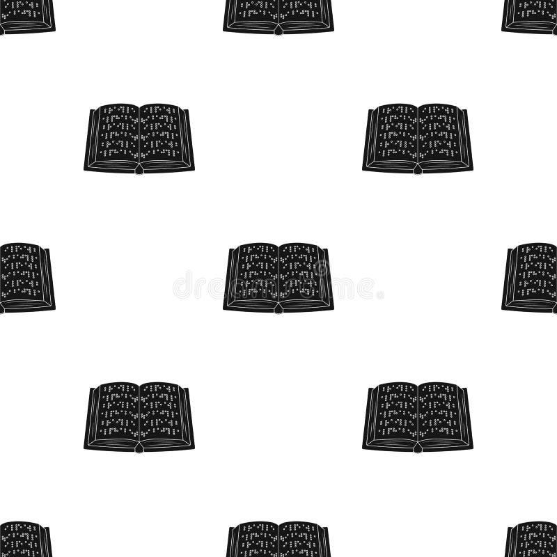 Rezerwuje pisać w Braille ikonie w czerń stylu odizolowywającym na białym tle Tłumacza i tłumacza symbolu zapasu wektor royalty ilustracja