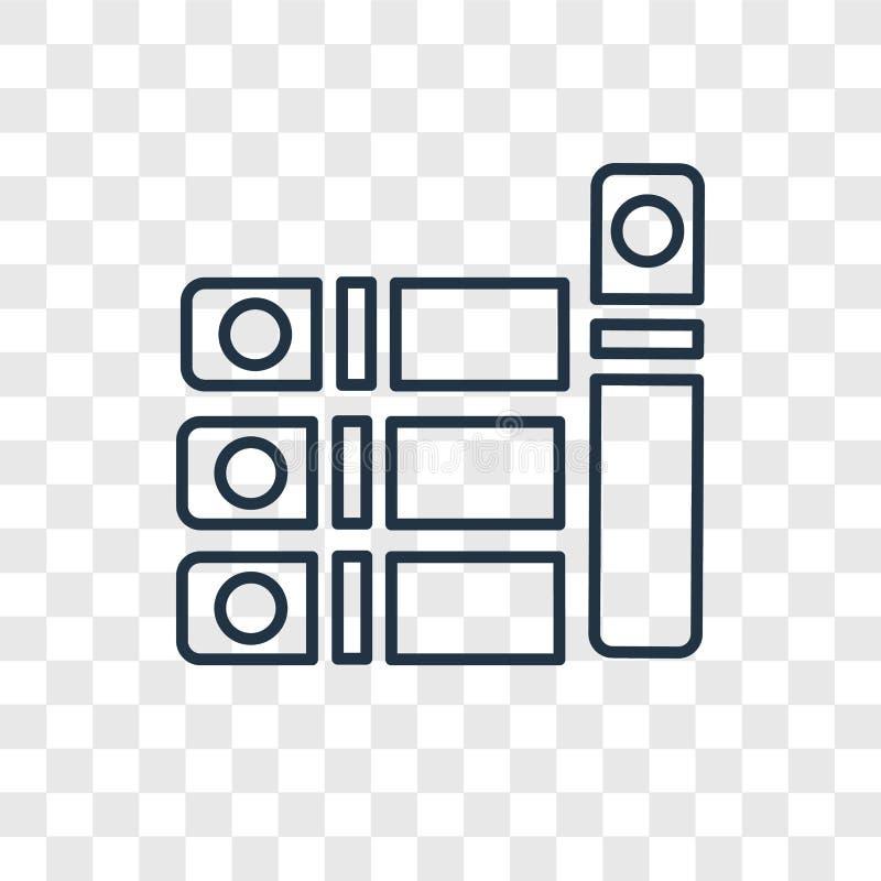 Rezerwuje pojęcie wektorową liniową ikonę odizolowywającą na przejrzystym backgro ilustracja wektor
