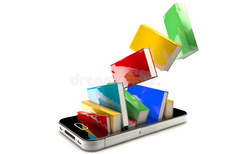 rezerwuje smartphone royalty ilustracja