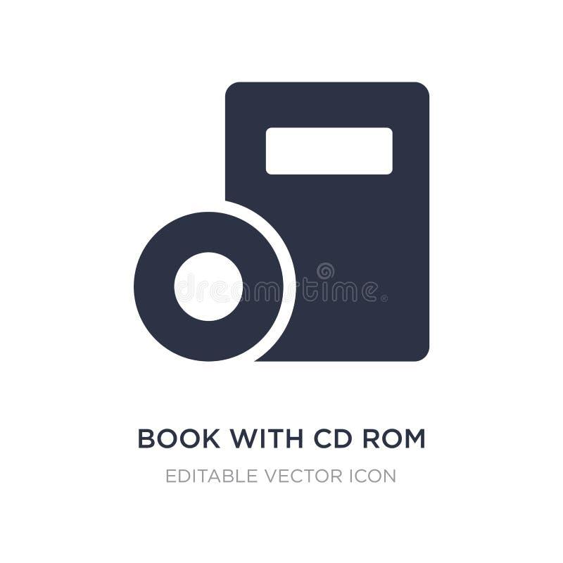 rezerwuje z cd rom ikoną na białym tle Prosta element ilustracja od narzędzi i naczyń pojęcia ilustracja wektor