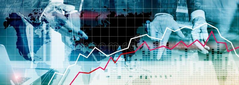 Rezession der Finanzkrise - Wirtschaftliches Konzept stockbild