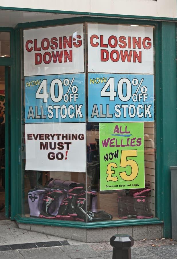 Rezession fährt fort lizenzfreies stockfoto