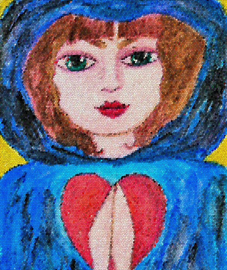 Rezo del amor y de la esperanza stock de ilustración