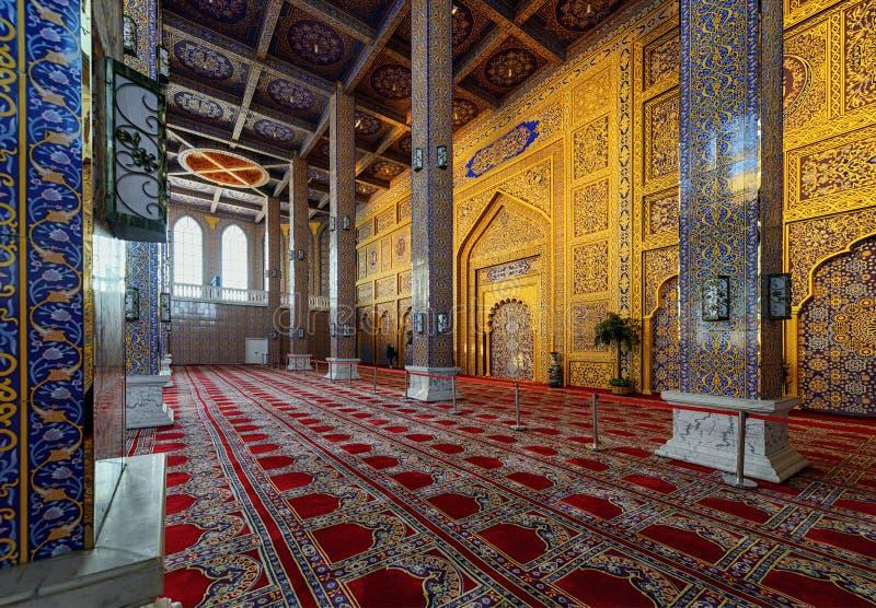Rezo Pasillo de la mezquita en Yinchuan, China imagenes de archivo