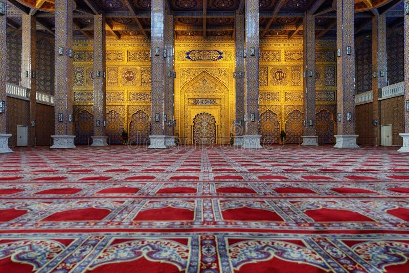 Rezo Pasillo de la mezquita en Yinchuan, China imagen de archivo