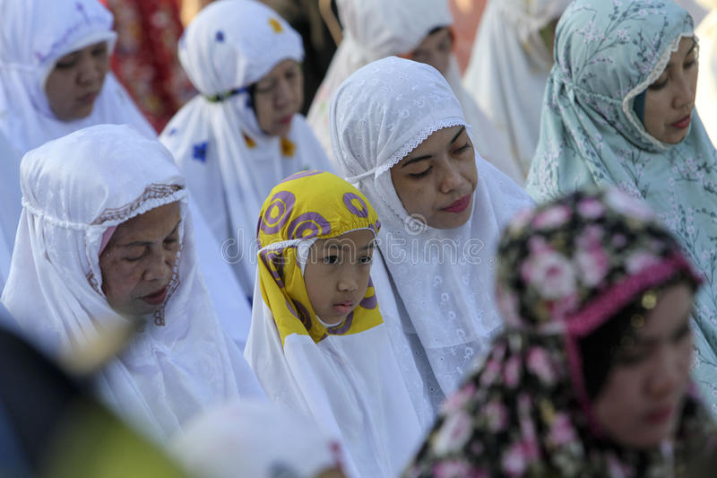 Rezos de Eid al Adha imagen de archivo