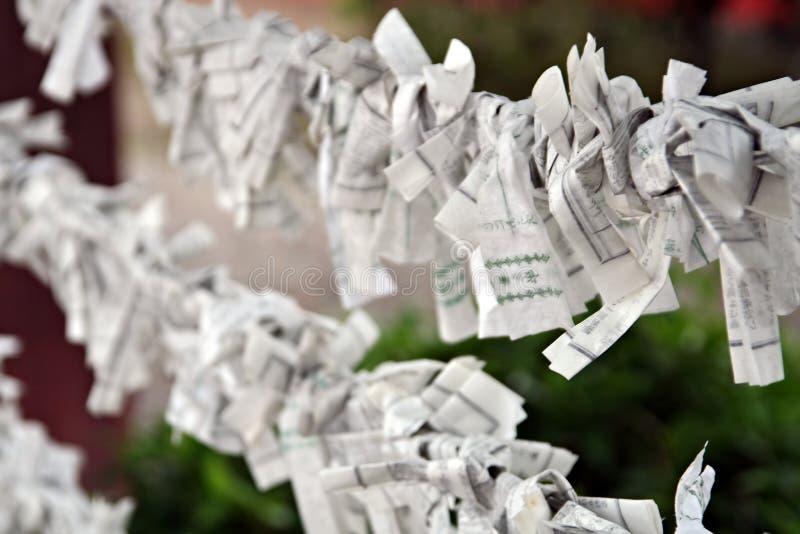 Rezos de papel fotografía de archivo