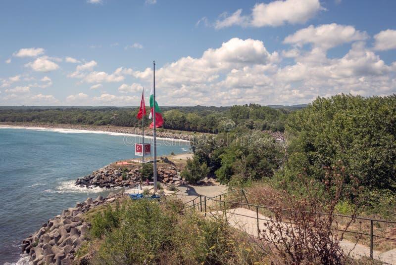 Rezovo resort in Southeastern Bulgaria, Europe. Rezovo is a village and seaside resort in southeastern Bulgaria, part of Tsarevo Municipality, Burgas Province royalty free stock image