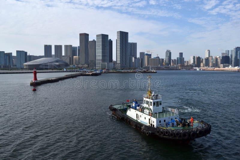 Rezultat ekspansywny rozwój w Chiny Ja ` s Dalian miasto, obrazy royalty free