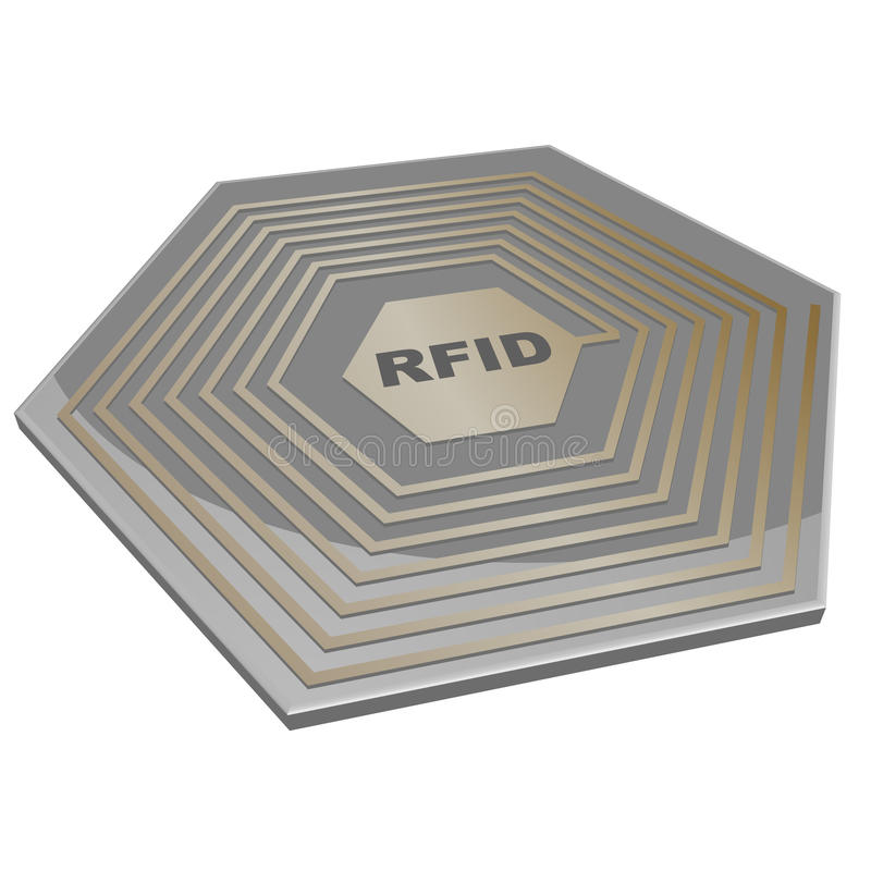 RFID chip stock illustration