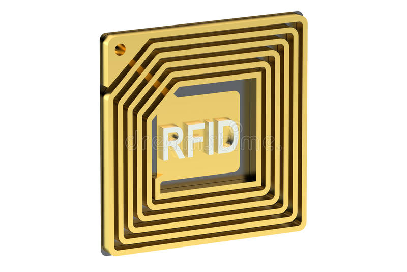 RFID-etikett stock illustrationer