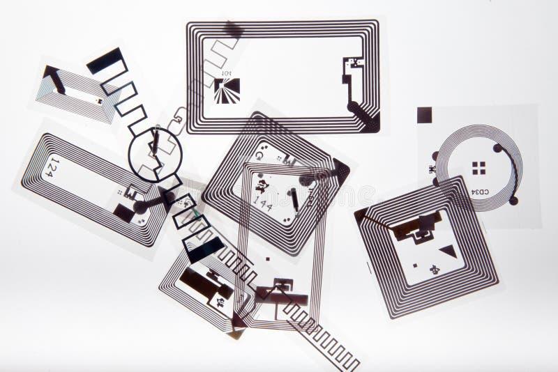 RFID-etiketter arkivfoton