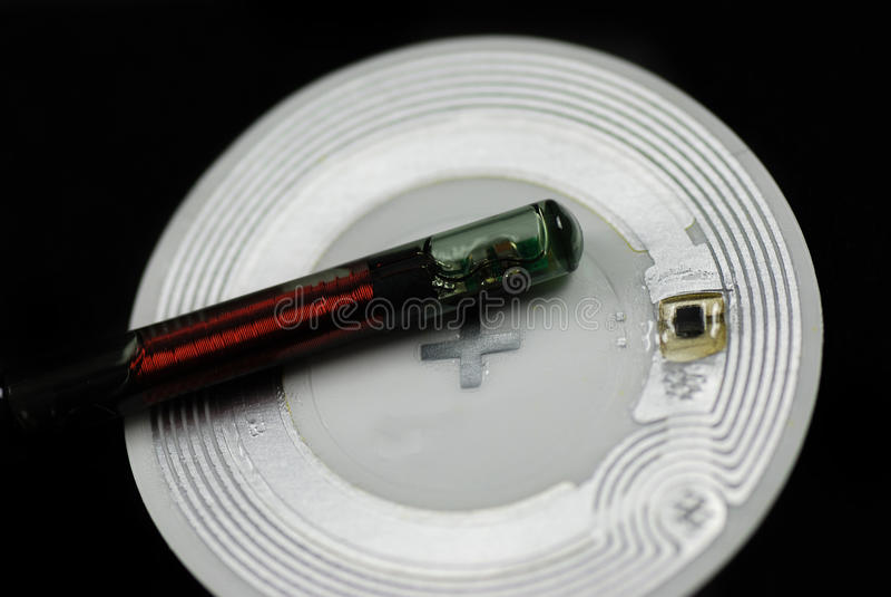 RFID etykietki i układy scaleni zdjęcie royalty free