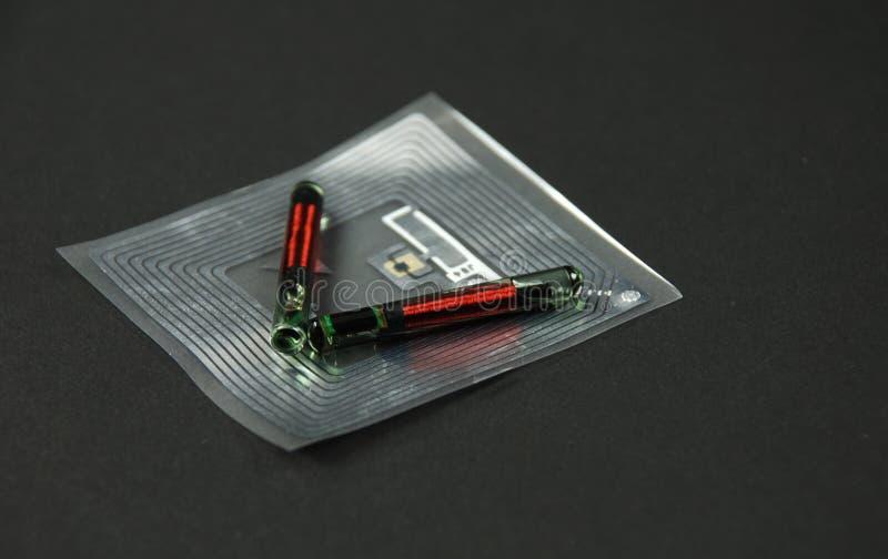 RFID etykietki i układy scaleni zdjęcia stock