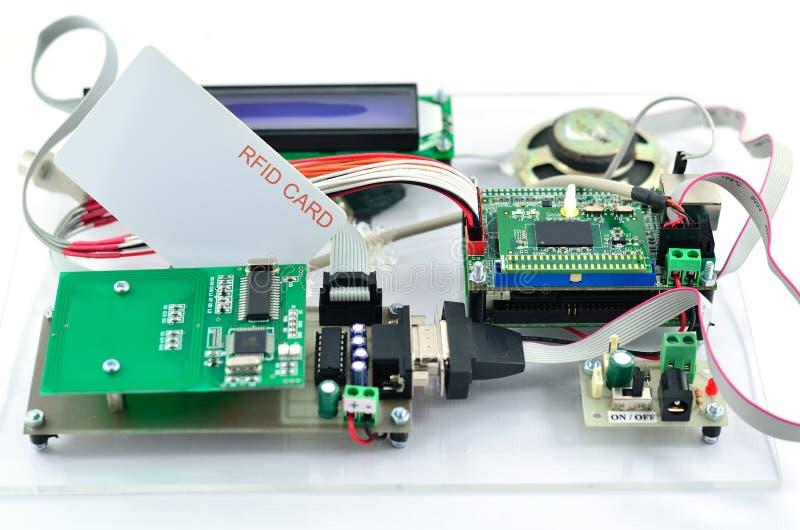 RFID reader kit. Radio-frequency identification (RFID) reader kit stock images
