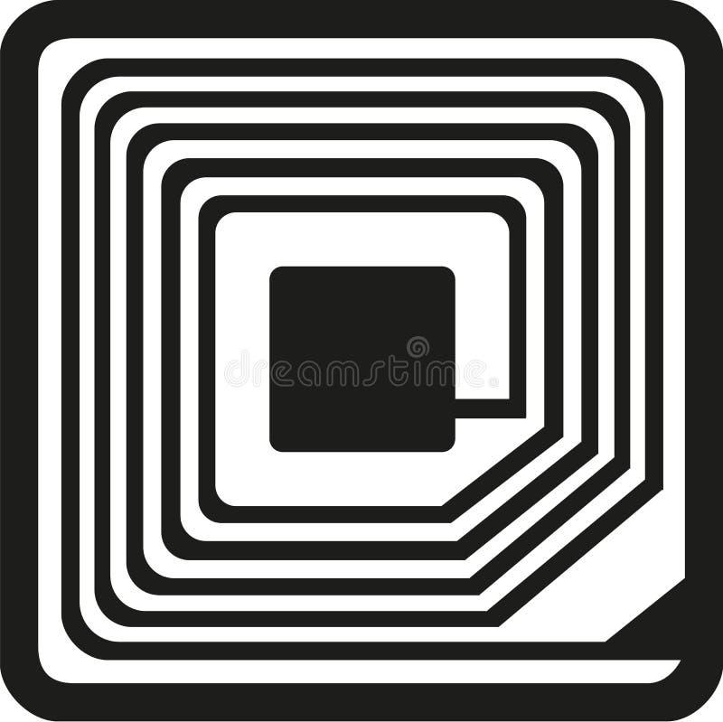 RFID-Symbolvektor stock abbildung
