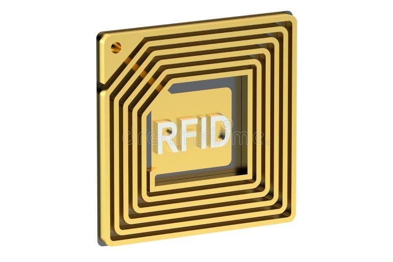 RFID tag stock illustration