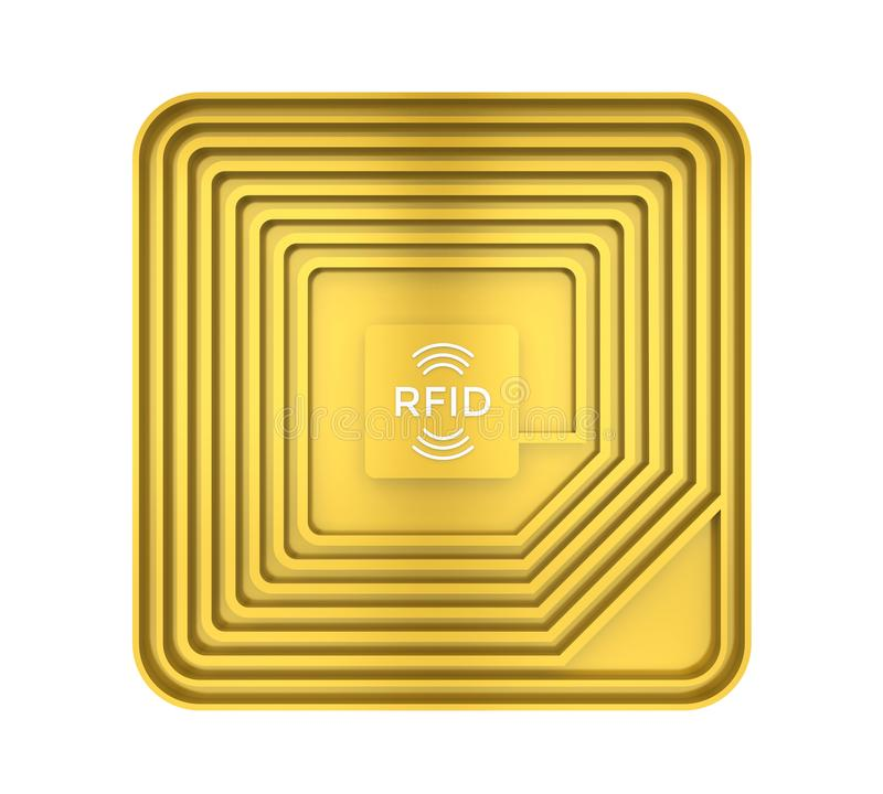 RFID Tag Isolated royalty free illustration