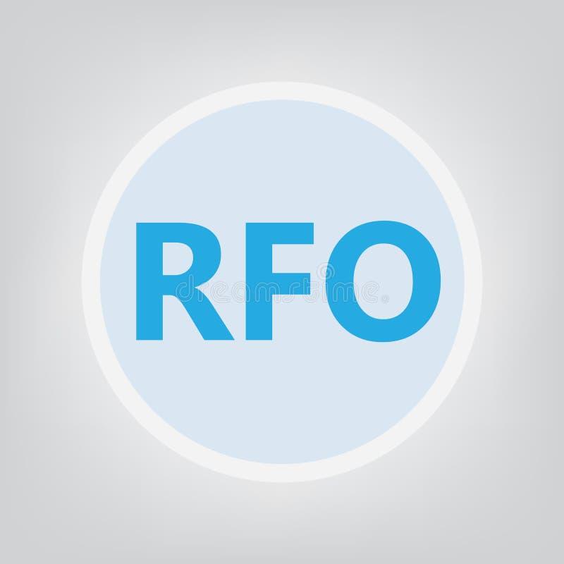 RFO prośba Dla oferty ilustracja wektor