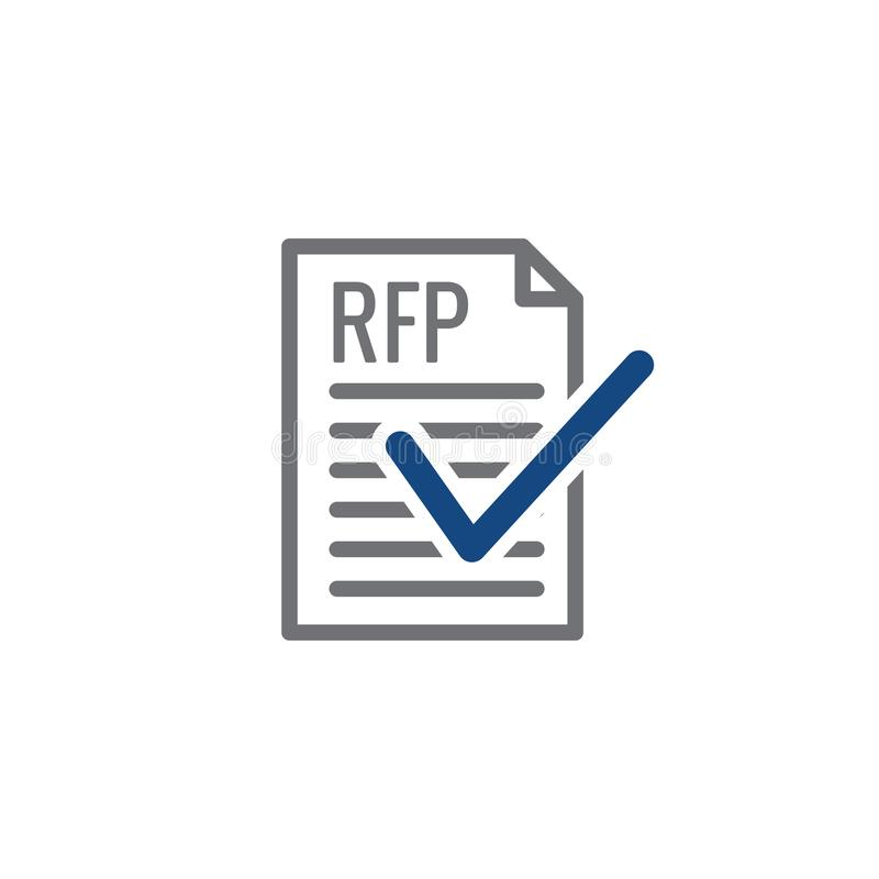 RFP Icon - request for proposal concept or idea. RFP Icon - request for proposal concept - idea vector illustration