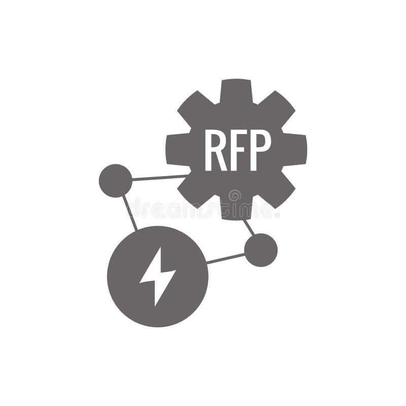 Rfp-Ikone - Ausschreibungskonzept oder -idee vektor abbildung