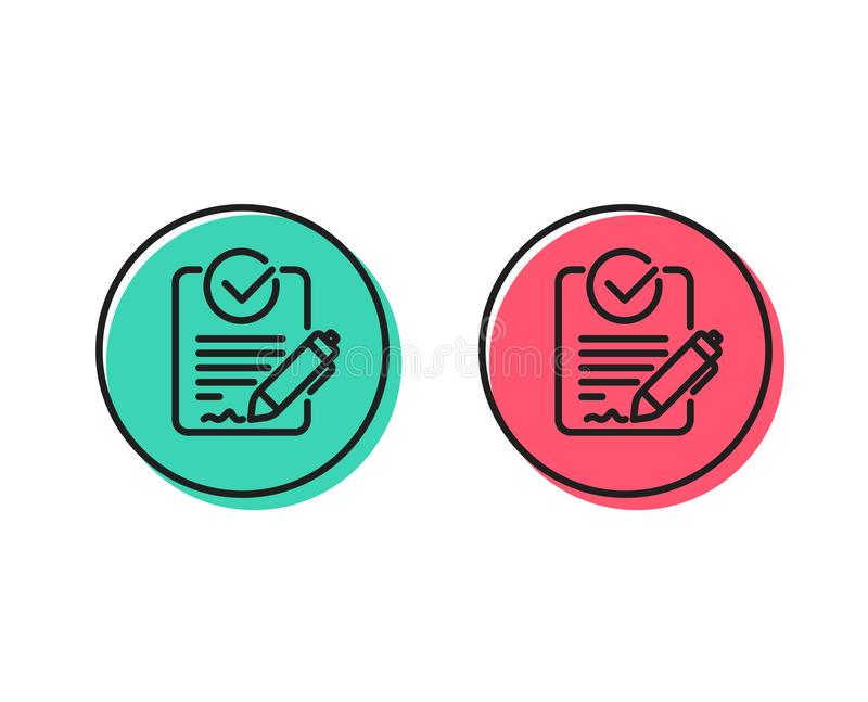 Rfp line icon. Request for proposal sign. Vector stock illustration