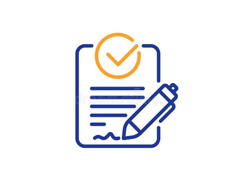 Rfp linii ikona Prośba dla propozycja znaka wektor ilustracji