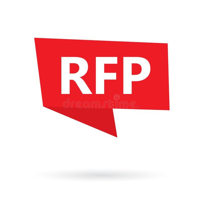 RFP prośba Dla propozycja akronimu na majcherze ilustracji