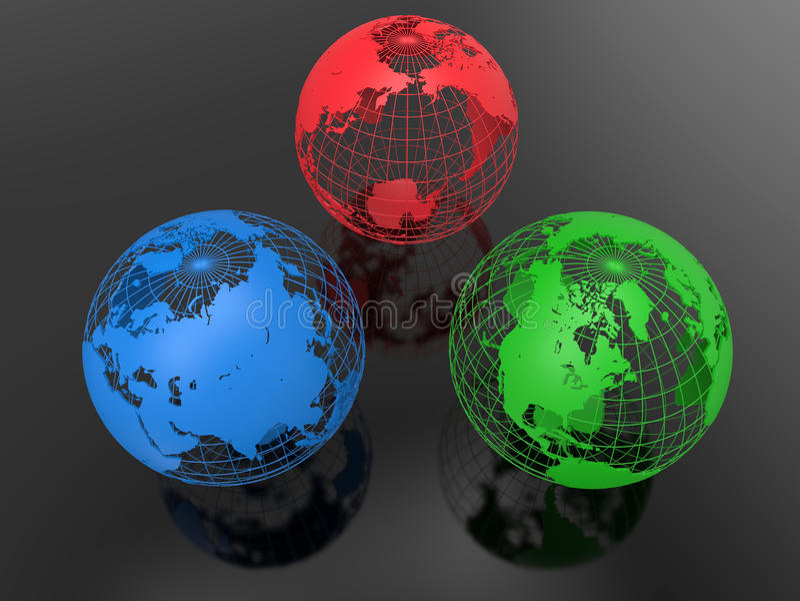 RGB地球地球概念 库存例证