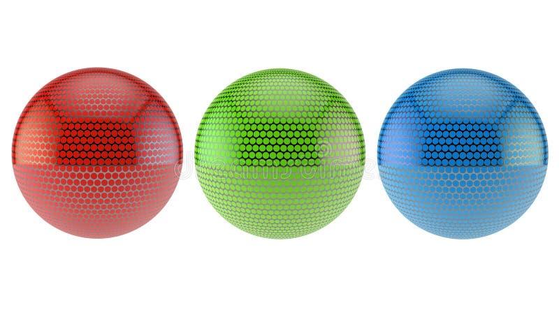 Rgb球形 库存例证