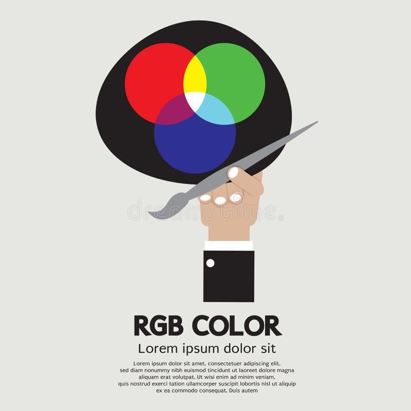 RGB色板显示 向量例证