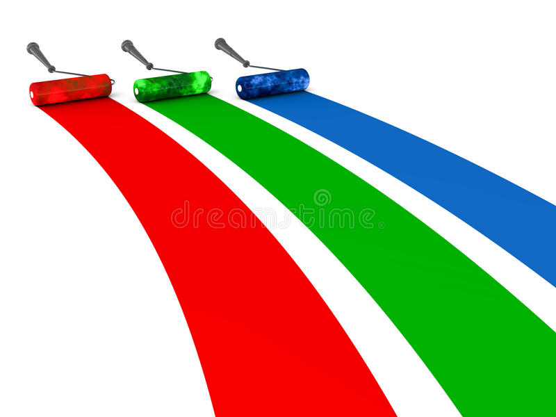 Rgb βούρτσες χρώματος απεικόνιση αποθεμάτων