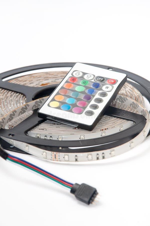 RGB привел remote controler прокладки и цвета инфракрасн стоковые изображения