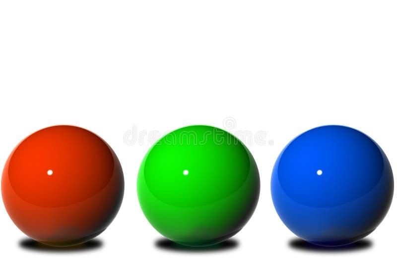 RGB ilustração stock