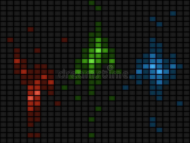 RGB abstract background royalty free illustration