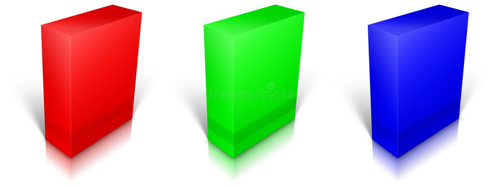 Download RGB Blank Box Isolated On White Background Stock Illustration - Image: 27009271