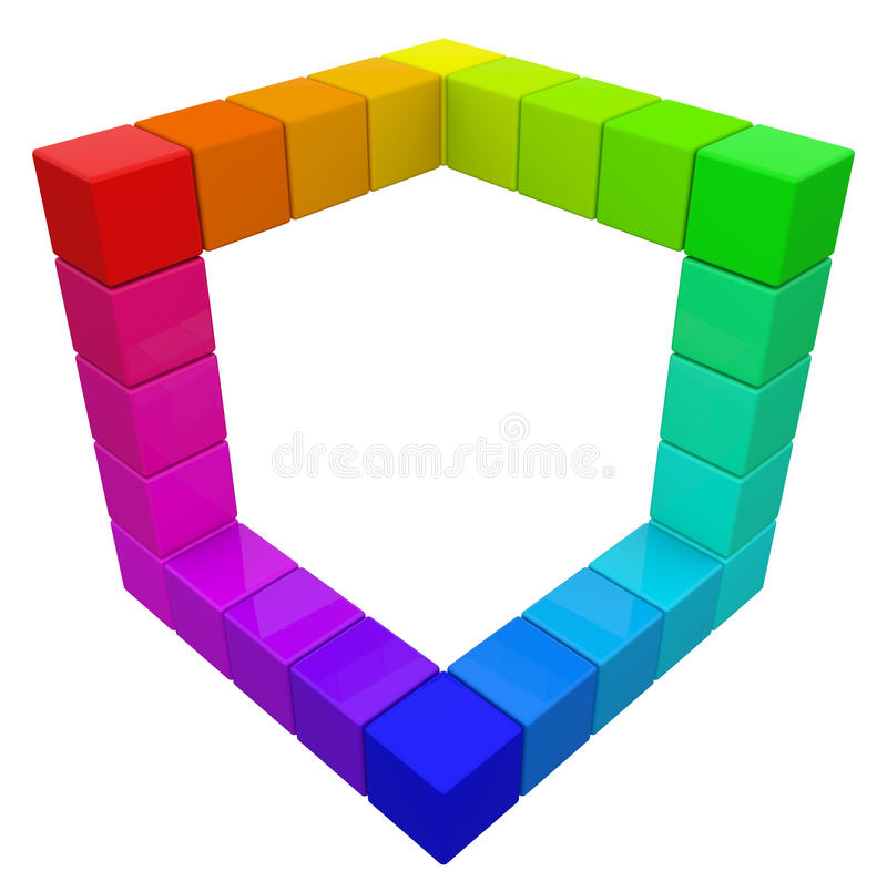 Download RGB & CMYK Color Cube. stock illustration. Illustration of geometric - 27462027