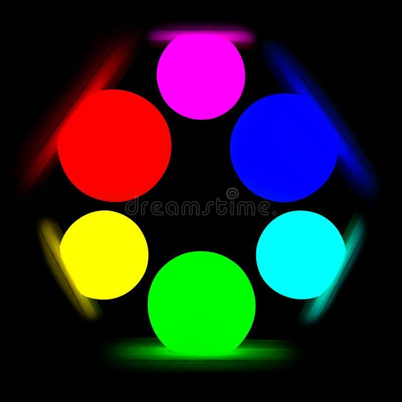 Download RGB color model on black stock illustration. Image of depth - 24515414