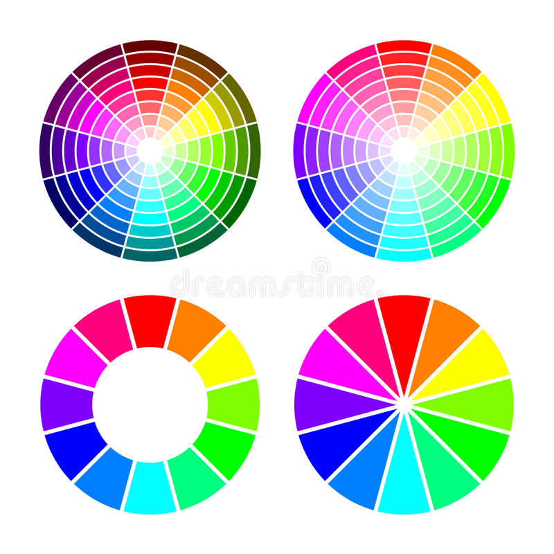 Free RGB Color Wheel From 12 Color, Red Green Blue, Vector Set On White Background Royalty Free Stock Images - 89756139