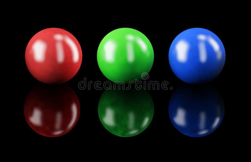 RGB colors stock illustration