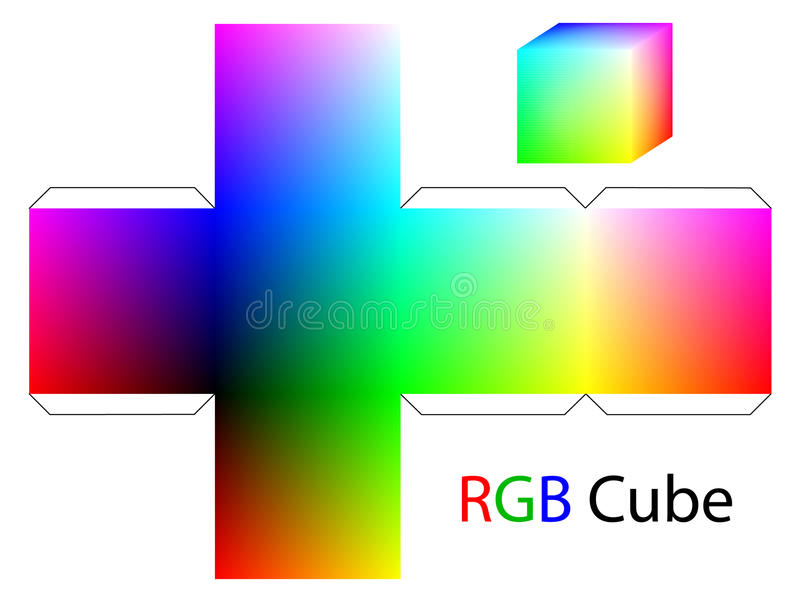 Download RGB cube stock vector. Image of print, colorful, cubic - 22482874
