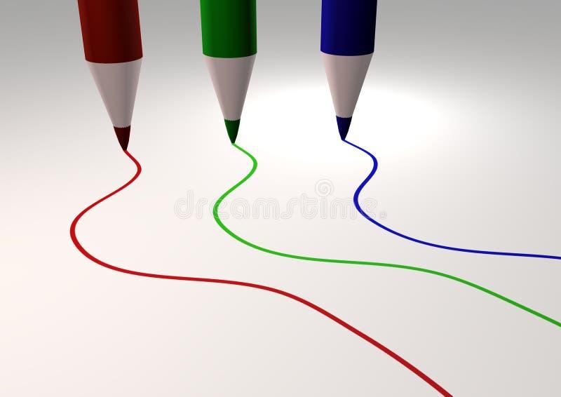 RGB dissipato illustrazione di stock