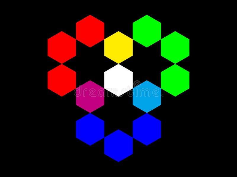 Rgb-Farben-Baumuster lizenzfreie abbildung