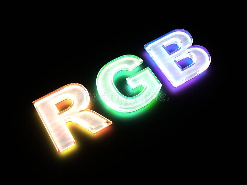 Rgb-Farbenentwurfzeichen vektor abbildung