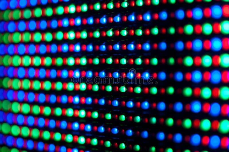 RGB geleide paneel van de diodevertoning royalty-vrije stock foto