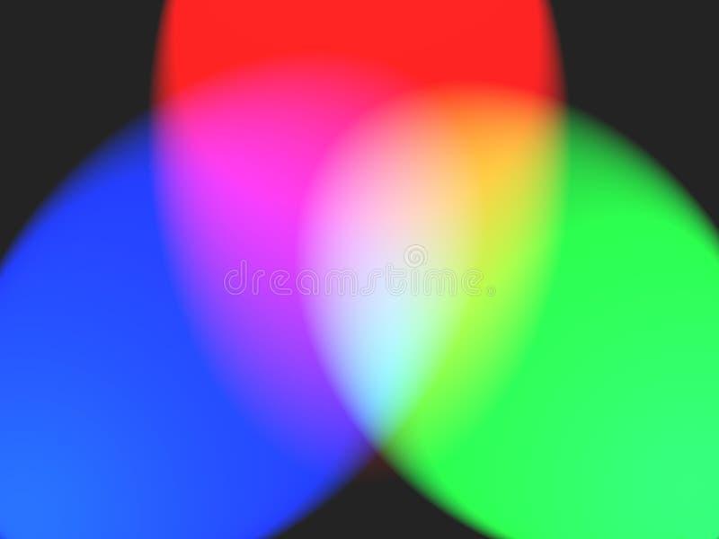 Rgb kleuren stock illustratie
