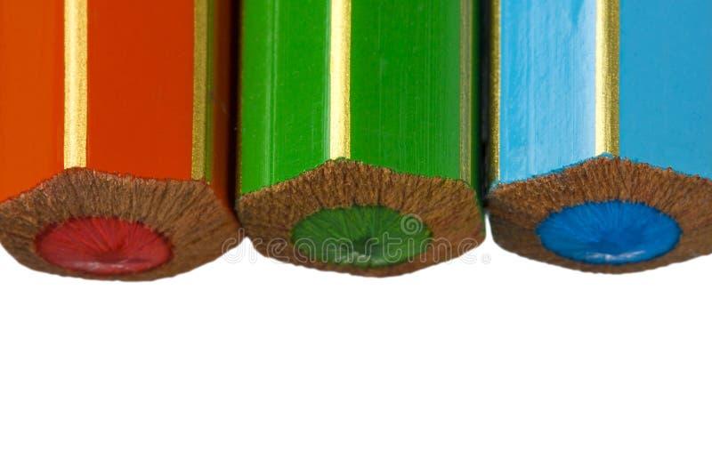 RGB Koloru Kredki zdjęcia stock